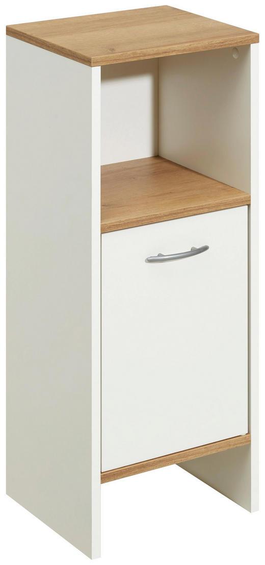 UNTERSCHRANK Weiß - Eichefarben/Alufarben, Design, Holzwerkstoff/Kunststoff (33/81,5/28cm) - Carryhome