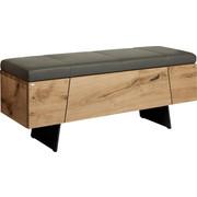 ŠATNÍ LAVICE - šedá/barvy dubu, Design, kov/dřevo (128,2/49,0/38,8cm) - Voglauer