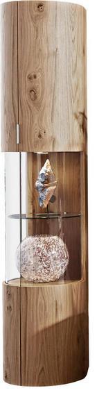 VITRINE Balkeneiche furniert Eichefarben - Eichefarben, Design, Glas/Holz (44/202,4/46,7cm) - AMBIENTE BY HÜLSTA