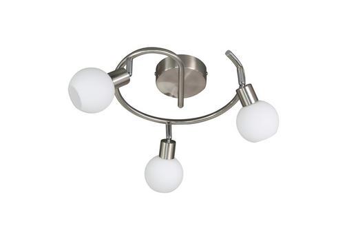 LED-STRAHLER - Nickelfarben, Design, Metall (30/19cm)