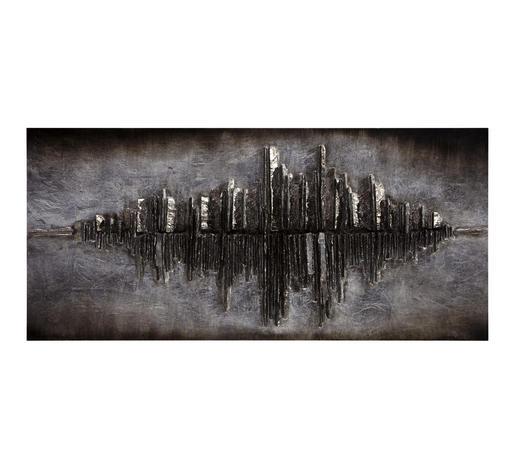 BILD - Silberfarben/Braun, Design, Holz (120/55/7cm) - Monee