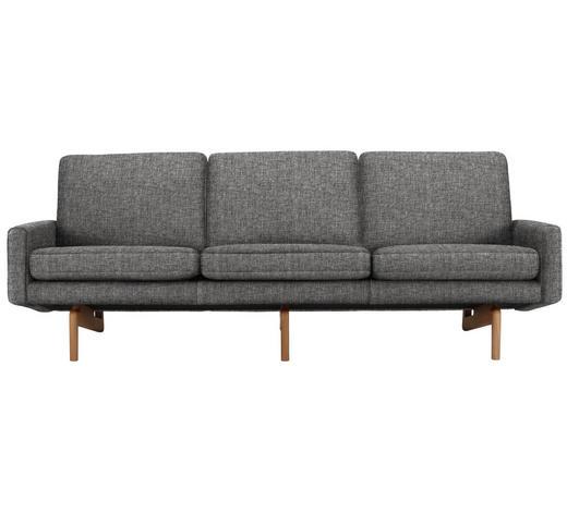 DREISITZER-SOFA in Textil Grau - Grau, Design, Holz/Textil (216/76/76cm)