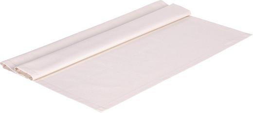TISCHDECKE Textil Leinwand, Struktur Beige 80/80 cm - Beige, Textil (80/80cm) - NOVEL