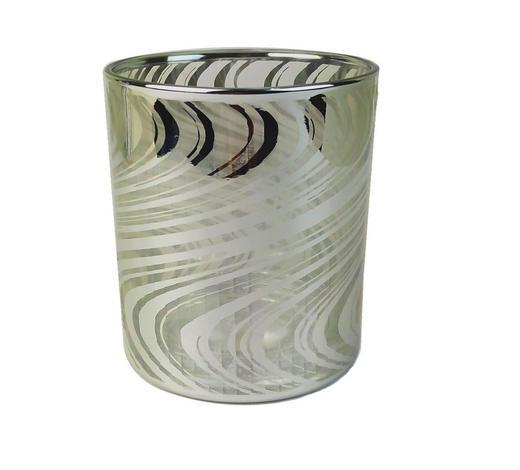 TEELICHTHALTER - Silberfarben, Design, Glas (9/10cm) - Ambia Home