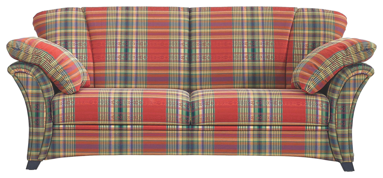 SITZGARNITUR Flachgewebe Rot - Rot/Dunkelblau, LIFESTYLE, Holz/Textil - FROMMHOLZ