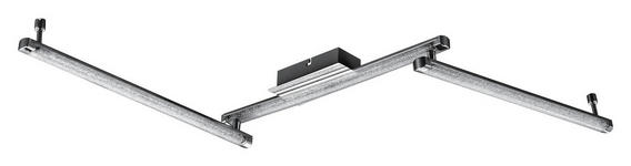 LED-DECKENLEUCHTE - Design, Kunststoff/Metall (122/7,5/7cm) - Novel