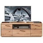 LOWBOARD 186/60/48 cm  - Eichefarben/Dunkelbraun, KONVENTIONELL, Holzwerkstoff/Metall (186/60/48cm) - Cantus