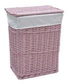 KOŠARA ZA RUBLJE - roza, Basics, drvo/tekstil (38/28/48cm) - LANDSCAPE