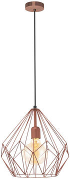 HÄNGELEUCHTE - Kupferfarben, Design, Metall (31/110cm) - Marama