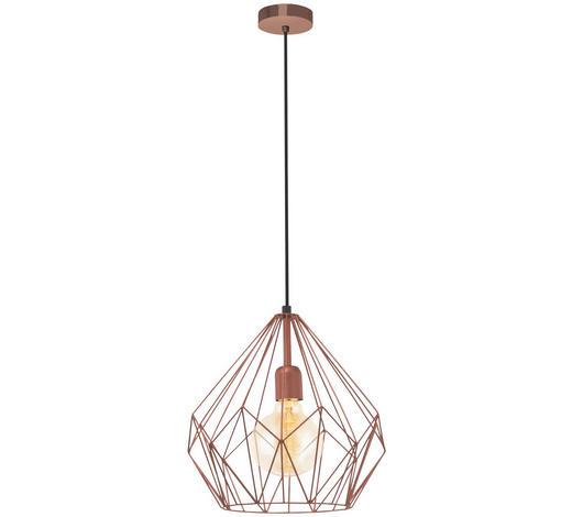 HÄNGELEUCHTE - Kupferfarben, Design, Metall (31/110cm)