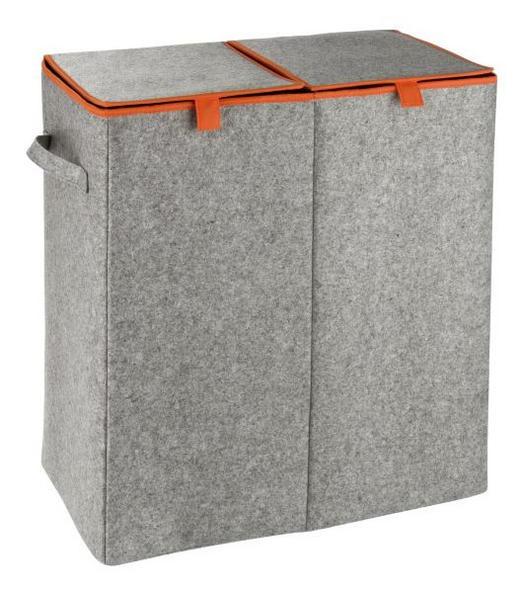 WÄSCHEKORB - Orange/Grau, Basics, Textil (52/54/28cm)