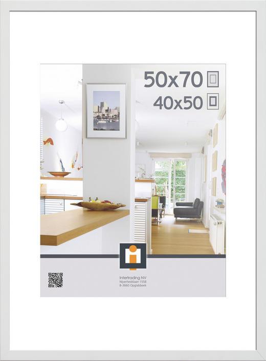 RÁM NA OBRAZY - bílá, Basics, umělá hmota/sklo (50/70cm)