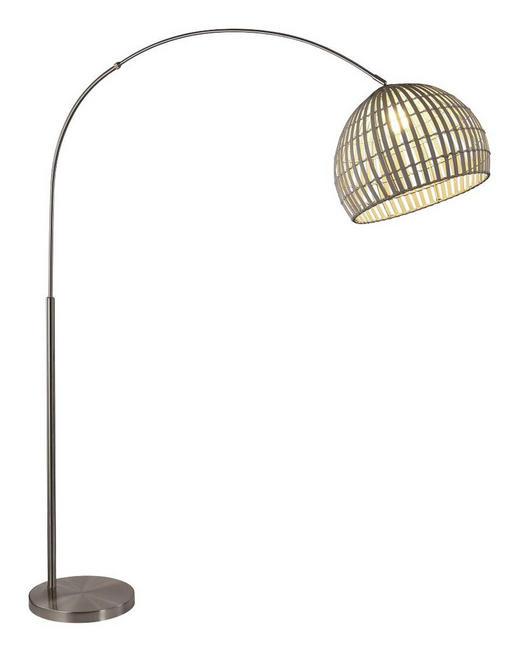 BOGENLEUCHTE - Grau, LIFESTYLE, Holz/Metall (45/195cm)