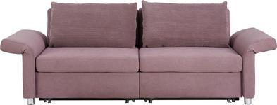 SCHLAFSOFA in Textil Flieder  - Flieder/Schwarz, Design, Kunststoff/Textil (204/242/81/103cm) - Venda
