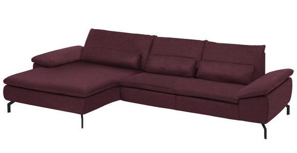 WOHNLANDSCHAFT in Textil Weinrot  - Weinrot/Schwarz, Design, Textil/Metall (181/341cm) - Dieter Knoll