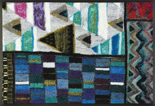 FUßMATTE 50/75 cm Abstraktes Multicolor - Multicolor, Basics, Kunststoff/Textil (50/75cm) - Esposa