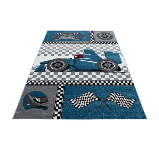 KINDERTEPPICH  80/150 cm  Blau   - Blau, Trend, Textil (80/150cm) - Ben'n'jen