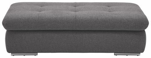 HOCKER Grau - Chromfarben/Grau, Design, Textil (138/42/67cm) - Beldomo Style