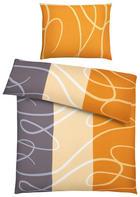 BETTWÄSCHE 140/200 cm - Grau/Honig, KONVENTIONELL, Textil (140/200cm) - Boxxx