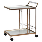 SERVIERWAGEN rechteckig Goldfarben  - Goldfarben, Design, Glas/Kunststoff (67/80/45cm) - Carryhome