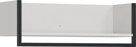 GARDEROBENPANEEL 76/26/30 cm  - Kaschmir/Schwarz, Design, Holzwerkstoff/Metall (76/26/30cm) - Xora