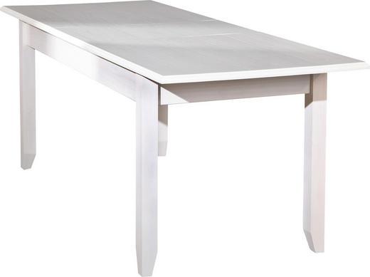 ESSTISCH Kiefer massiv Weiß - Weiß, LIFESTYLE, Holz (160-200/90/77cm) - Carryhome