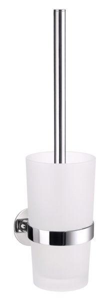 WC-BÜRSTENGARNITUR - Chromfarben, Basics, Glas/Kunststoff (0/42,5cm)