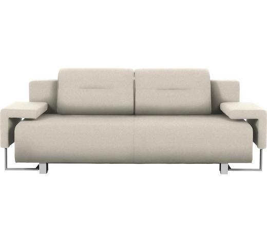 SCHLAFSOFA in Textil Beige - Chromfarben/Beige, Design, Kunststoff/Textil (222/84/93cm) - Carryhome