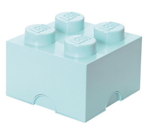 AUFBEWAHRUNGSBOX 25/25/18 cm - Hellblau, Trend, Kunststoff (25/25/18cm) - Lego