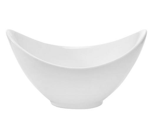 SCHÜSSEL  - Weiß, Basics, Keramik (10,7/9,1/6cm) - Novel