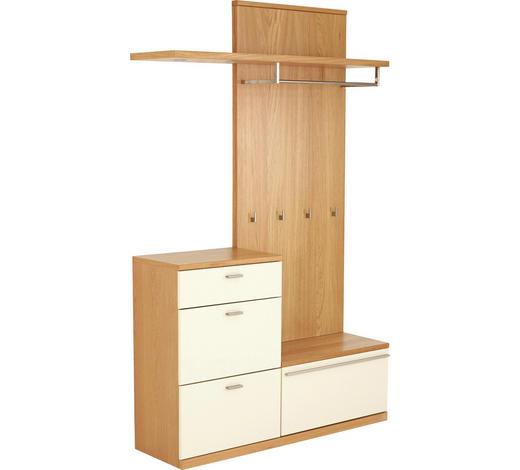 GARDEROBE - Eichefarben/Creme, Design, Holz/Holzwerkstoff (135/218,3/39,1cm) - Invivus