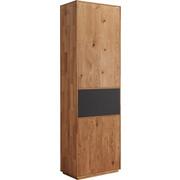 GARDEROBENSCHRANK 60/205/38 cm - Eichefarben/Anthrazit, Natur, Glas/Holz (60/205/38cm) - Valnatura