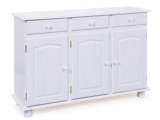 KOMMODE Kiefer massiv Weiß - Weiß, LIFESTYLE, Holz (130/87/43cm) - Carryhome