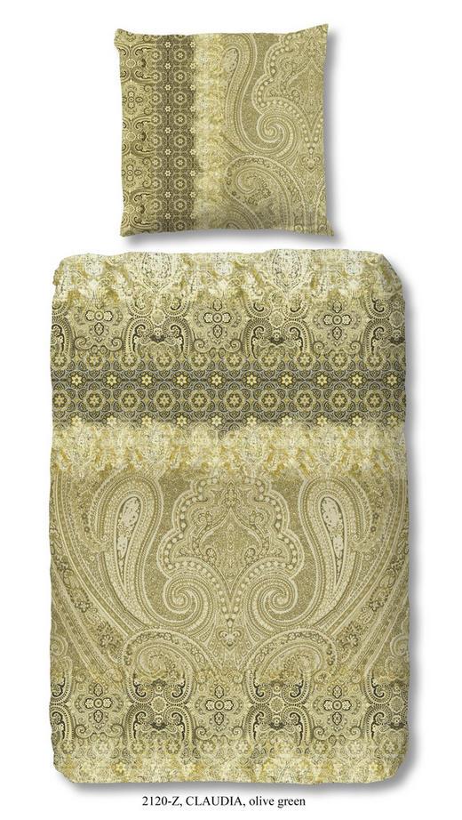 BETTWÄSCHE Satin Olivgrün 135/200 cm - Olivgrün, Trend, Textil (135/200cm)
