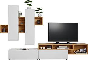 HYLLKOMBINATION - vit/svart, Modern, träbaserade material/plast (288/204/49cm) - Low Price