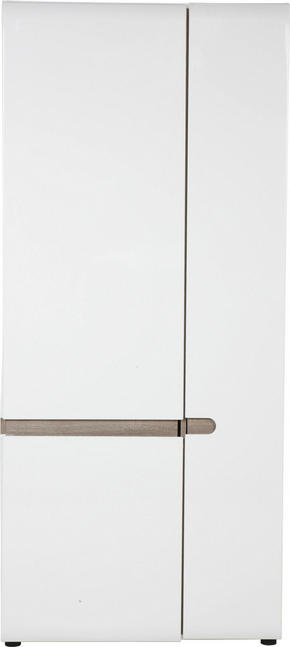 GARDEROB - vit/färg tryffelek, Basics, träbaserade material (85/195/37cm) - Carryhome