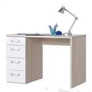 PISALNA MIZA leseni material bela, jesen  - jesen/bela, Design, umetna masa/leseni material (110/73,5/60cm) - Xora