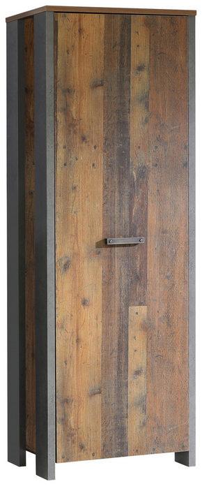GARDEROB - mässingfärg/mörkgrå, Trend, träbaserade material/plast (67/201,5/41,6cm) - Carryhome