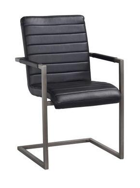 STOL - svart, Design, metall/textil (48/92/42cm) - Rowico