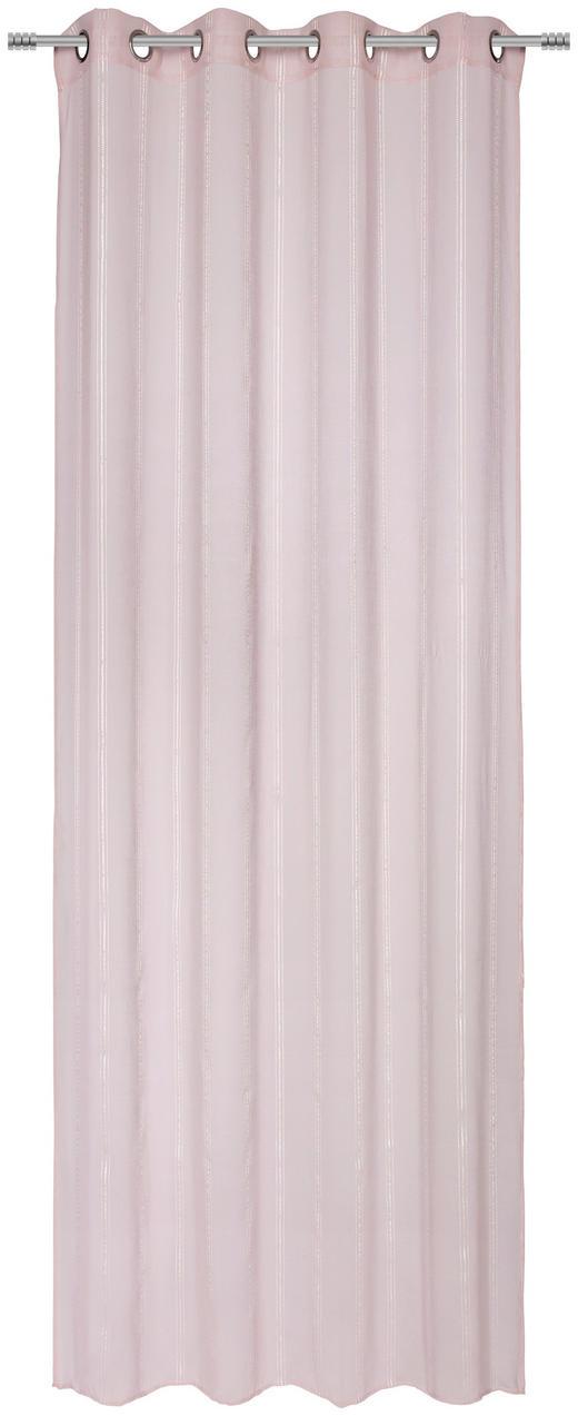 ÖSENVORHANG transparent - Rosa, Basics, Textil (135/245/cm) - Esposa