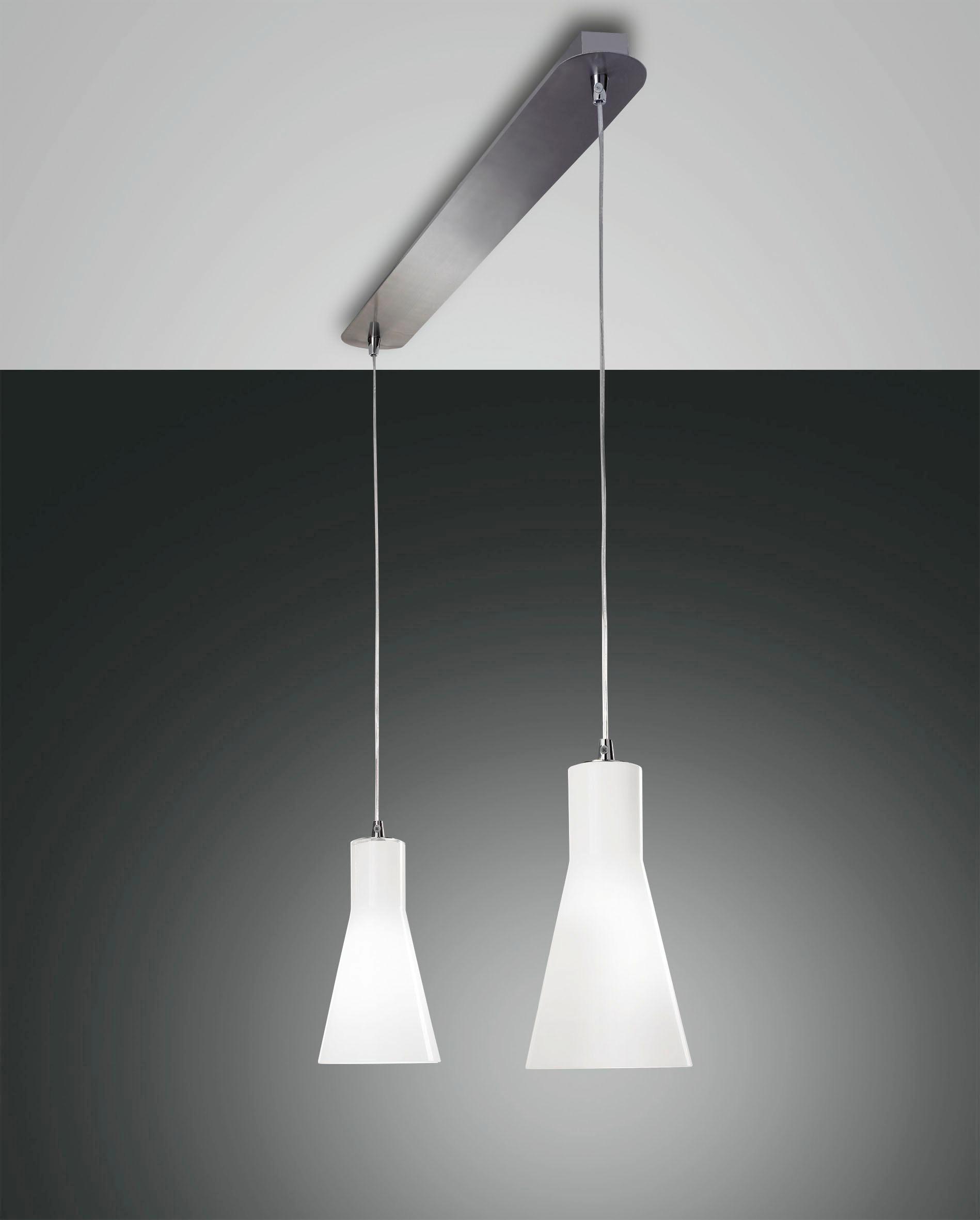 HÄNGELEUCHTE - Weiß, KONVENTIONELL, Glas/Metall (66/200cm)