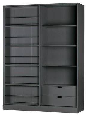 SKÅP - grå, Modern, trä (150/200/46,5cm) - Ambia Home