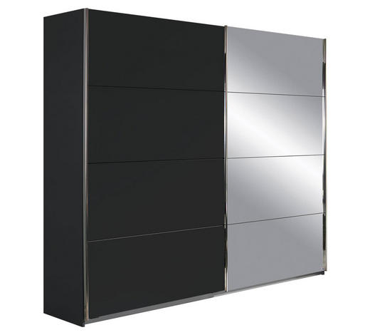 SCHWEBETÜRENSCHRANK in Grau - Chromfarben/Grau, Design, Holzwerkstoff/Metall (271/210/62cm) - Xora