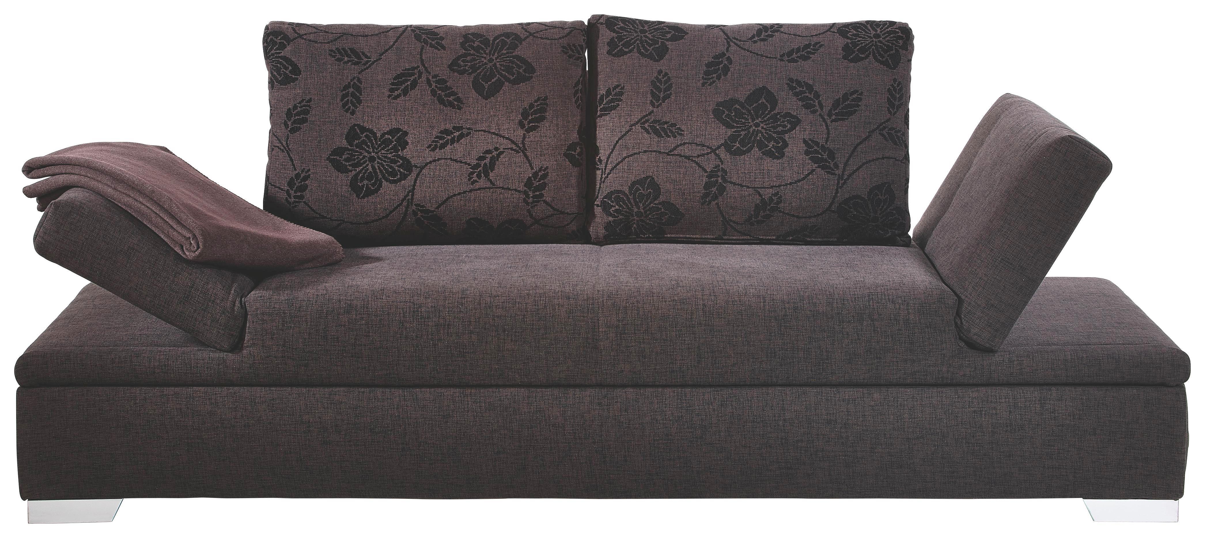 SCHLAFSOFA Dunkelbraun - Dunkelbraun/Silberfarben, Design, Holz/Textil (216/87/104cm) - MUSTERRING