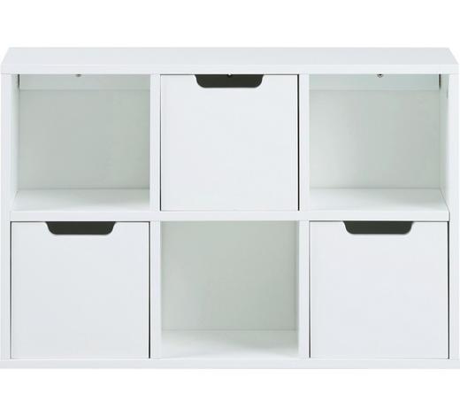 REGAL in 58/39/18 cm Weiß - Weiß, Design, Holzwerkstoff (58/39/18cm) - Carryhome