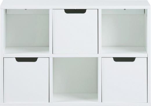 REGAL lackiert Weiß - Weiß, LIFESTYLE (58/39/18cm) - Carryhome