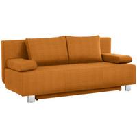 SCHLAFSOFA in Textil Orange - Chromfarben/Orange, Design, Textil/Metall (197/88/89cm) - Xora