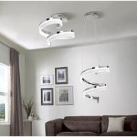 LED-HÄNGELEUCHTE - Chromfarben, Design, Glas/Metall (36/150/36cm) - Ambiente