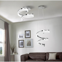 LED STROPNÍ SVÍTIDLO - barvy chromu, Design, kov (28cm) - Ambiente