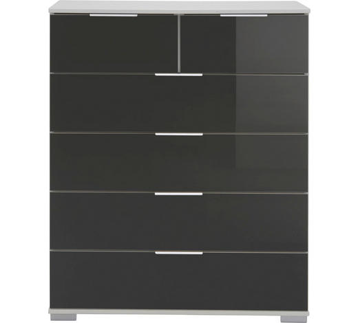 KOMMODE 82/102/42 cm  - Chromfarben/Alufarben, Design, Glas/Holzwerkstoff (82/102/42cm) - Carryhome
